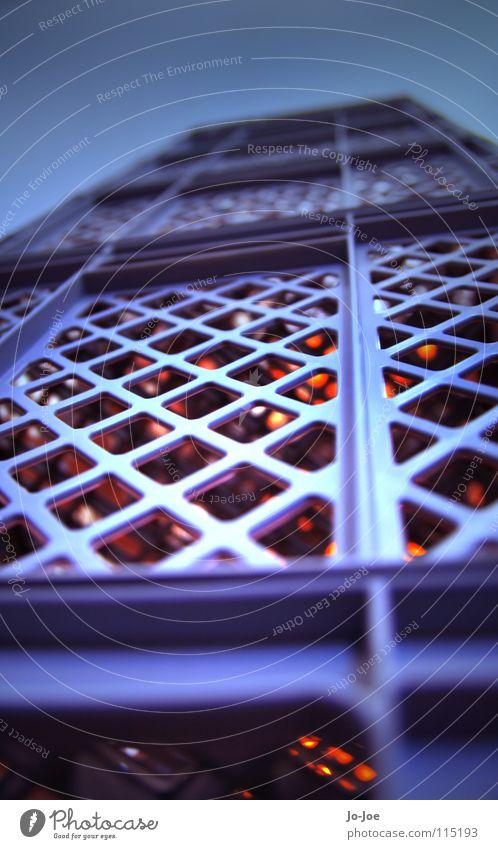 World Bake Center blau grau orange groß Hochhaus hoch Macht Kochen & Garen & Backen Netz Turm Kiste Gitter gigantisch