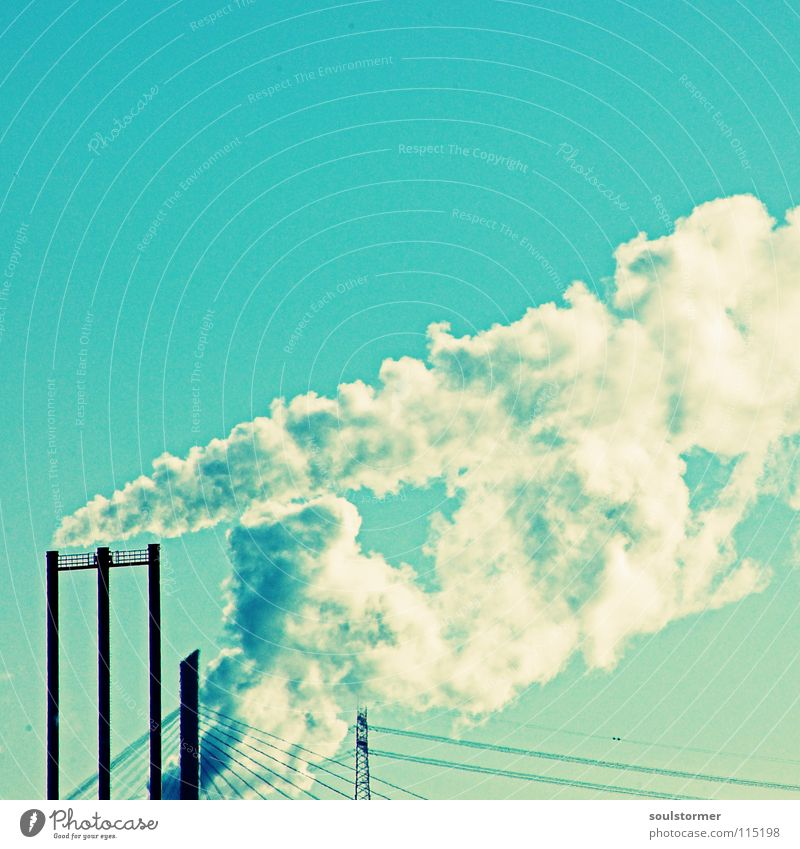 Smoke Cross Processing Grünstich Gelbstich Abgas Klimaschutz Desaster Klimawandel Kohlendioxid G8 Gipfel weiß schwarz Wolken heiß dreckig Ekel Gift Industrie