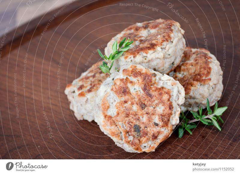 Frikadellen Fleischklösse Hackfleisch Hamburger hack hackbraten Thymian gebraten Schweinefleisch Rindfleisch Mahlzeit hausmannskost Braten Küche rustikal