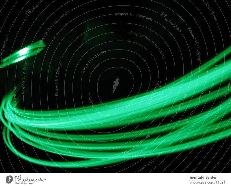 grün & schnell schwarz Geschwindigkeit drehen Streifen Licht Langzeitbelichtung Statue Bewegung Lampe Kreis fast light
