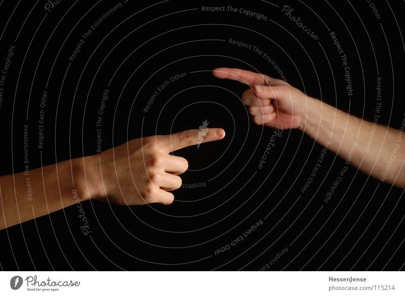 Zwei Wege Hand Wege & Pfade Zusammensein Deutschland Arme Erfolg Finger Macht Kommunizieren Flüssigkeit Mut Konflikt & Streit Richtung führen chaotisch