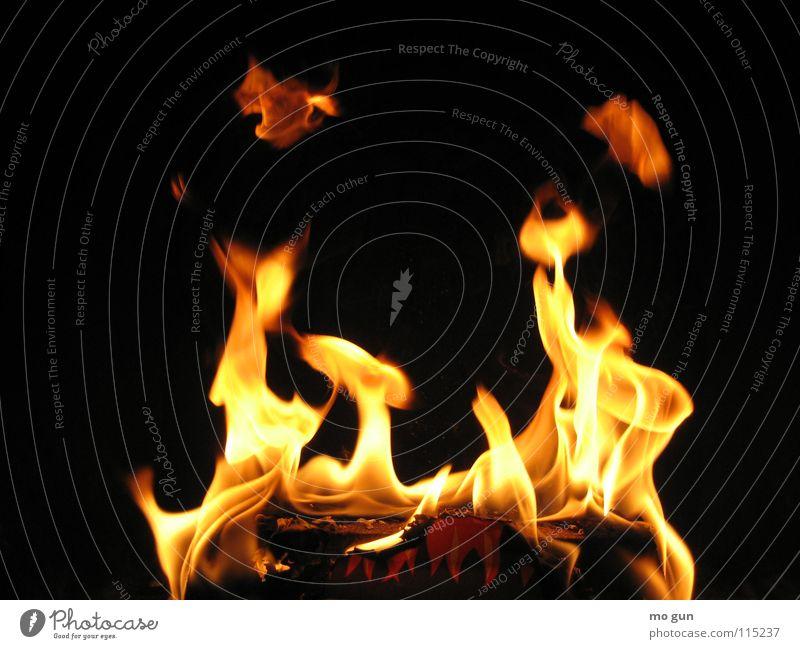 Flammen Kamin brennen Kaminfeuer heiß gemütlich Romantik Licht Grillen Nahaufnahme gefährlich Physik Hölle schwarz zünden Feuer Brand Chili hot cooking cozy