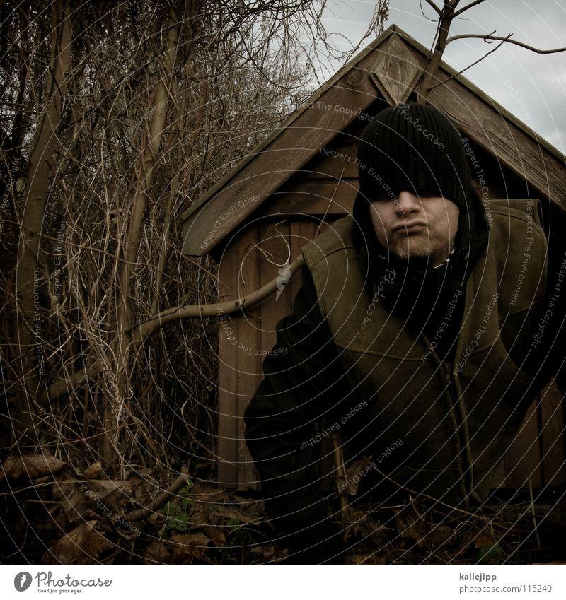 hunde die bellen beissen nicht! Mensch Natur Freude Tier Haus Wärme Holz Kopf Deutschland Arme frei Nase schlafen Sicherheit Dach Fell