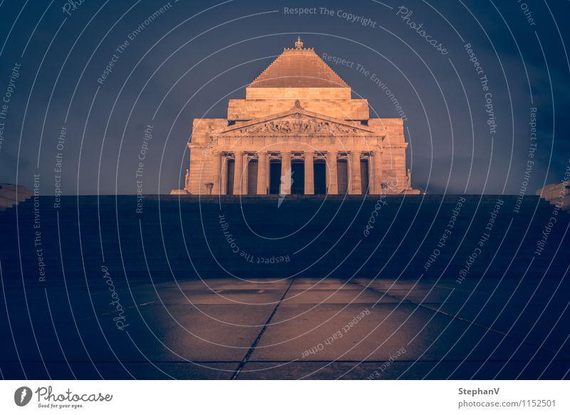 Schrein der Erinnerung Tourismus Ferne Sightseeing Trauerfeier Beerdigung Melbourne Australien Stadtrand Park Bauwerk Gebäude Architektur Sehenswürdigkeit