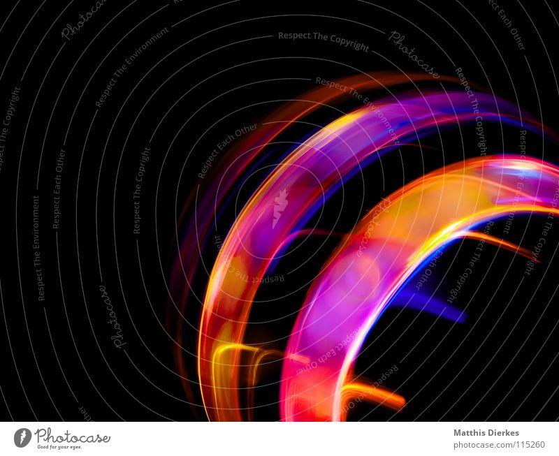 Lichtring Lichtspiel Lichterkette Stativ Langzeitbelichtung Strahlung Kurve Bilanz Statistik Verlauf Spuren tief Geschwindigkeit kreisen Konjunktur