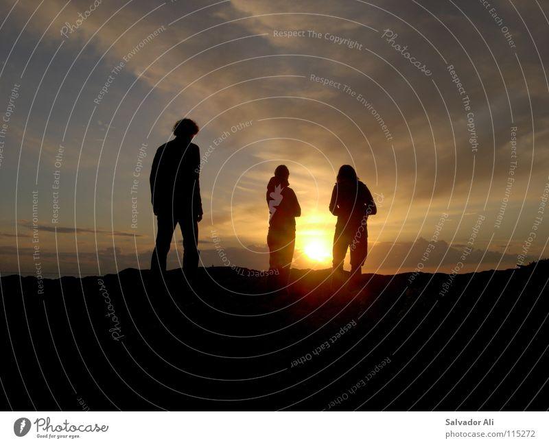 Nachtschattengewächse schön Sonne Pflanze Freude Strand Wolken Denken Wärme orange Küste gehen 3 Insel Aussicht stehen Physik