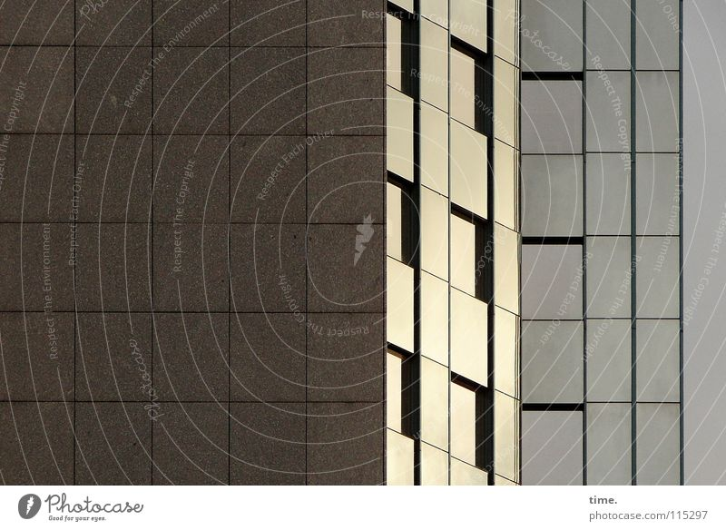 Hommage à Maurits Cornelis E. Haus Fenster Wand Architektur Stein Mauer Linie Glas Fassade glänzend Beton Hochhaus Ecke Konzentration Stahl Neigung