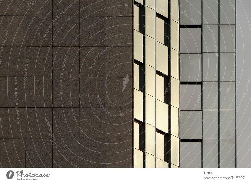 Hommage à Maurits Cornelis E. Haus Menschenleer Hochhaus Mauer Wand Fenster Stein Beton Glas Stahl Linie glänzend Konzentration voreinander hintereinander