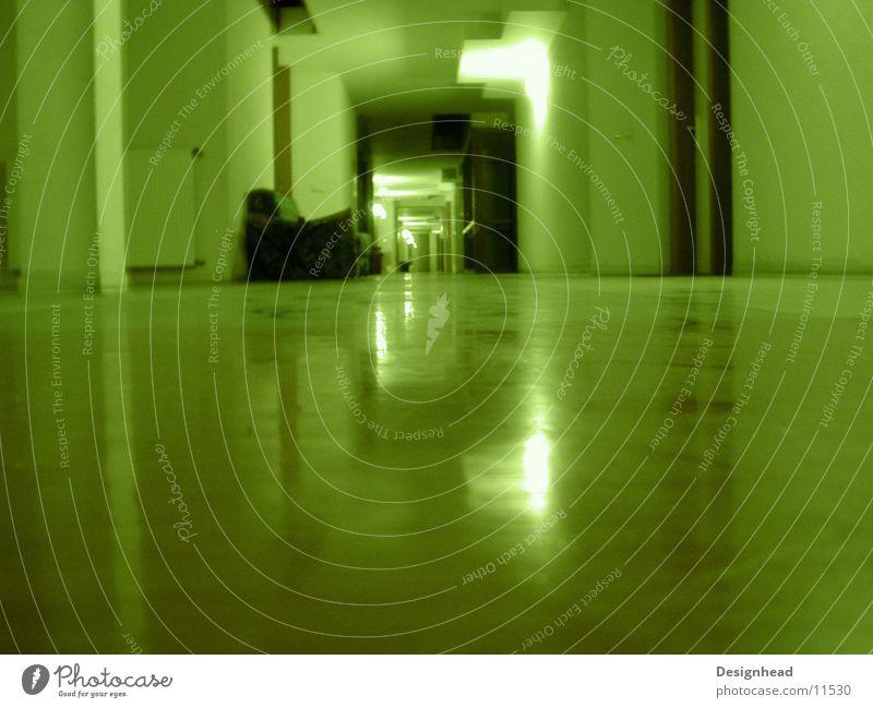 Flursofa grün Licht Sofa Architektur