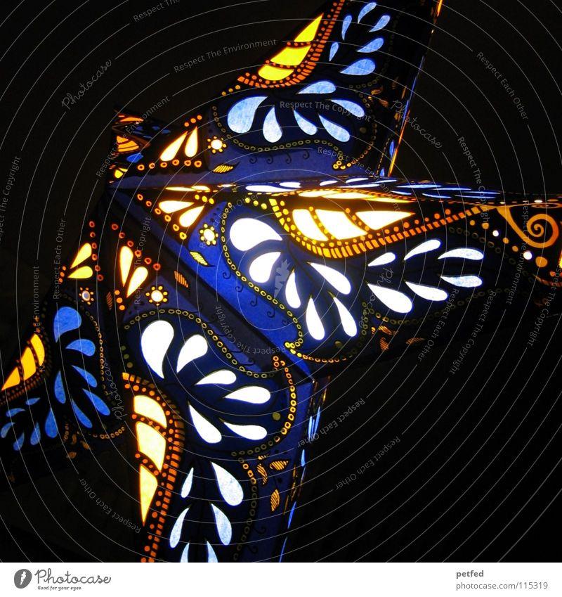 Stern auf den ich schaue... Weihnachten & Advent Farbe dunkel Stimmung hell Hoffnung Stern (Symbol) Kerze Laterne Licht mehrfarbig Weihnachtsdekoration Christentum Retter Lampion