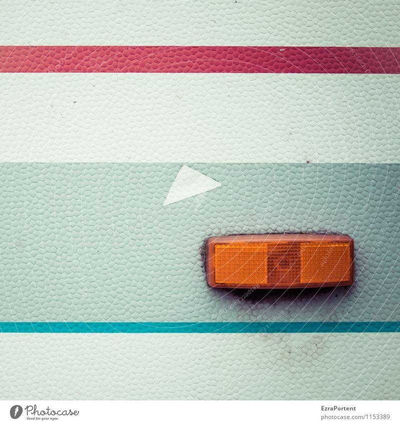 Blinker rechts blau Farbe weiß rot grau Linie hell orange Design dreckig ästhetisch Streifen Zeichen retro Kunststoff Fahrzeug