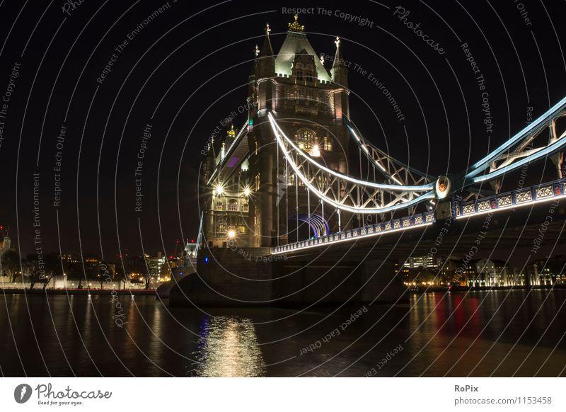 tower bridge Technik & Technologie Architektur Kultur Umwelt Landschaft Wasser Flussufer London England Stadt Hauptstadt Stadtzentrum Skyline Brücke Turm Tor