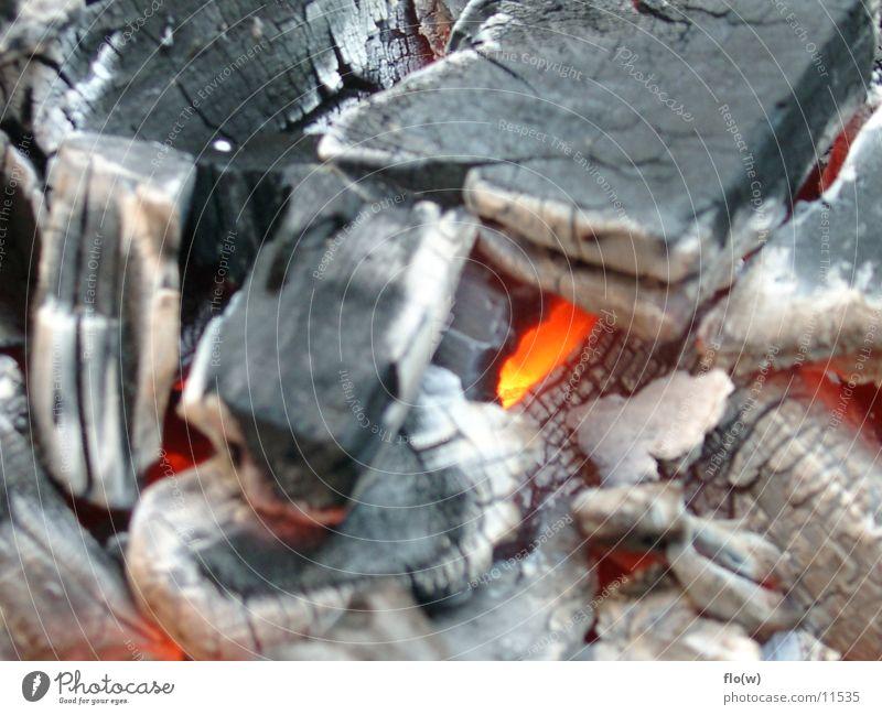 hier kommt die glut Glut heiß Grillen Dinge Brand