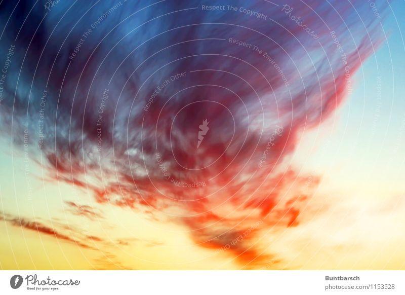 Himmelsfarben Natur Luft nur Himmel Wolken Sonnenaufgang Sonnenuntergang Wind Sturm blau mehrfarbig gelb grau orange rot schwarz Farbe Umwelt Farbfoto