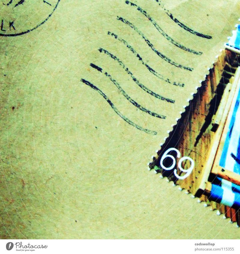 oral love letter mündlich Briefmarke Liebesbrief Poststempel Briefumschlag Liegestuhl E-Mail schriftlich Valentinstag Kommunizieren Ziffern & Zahlen stamp 69