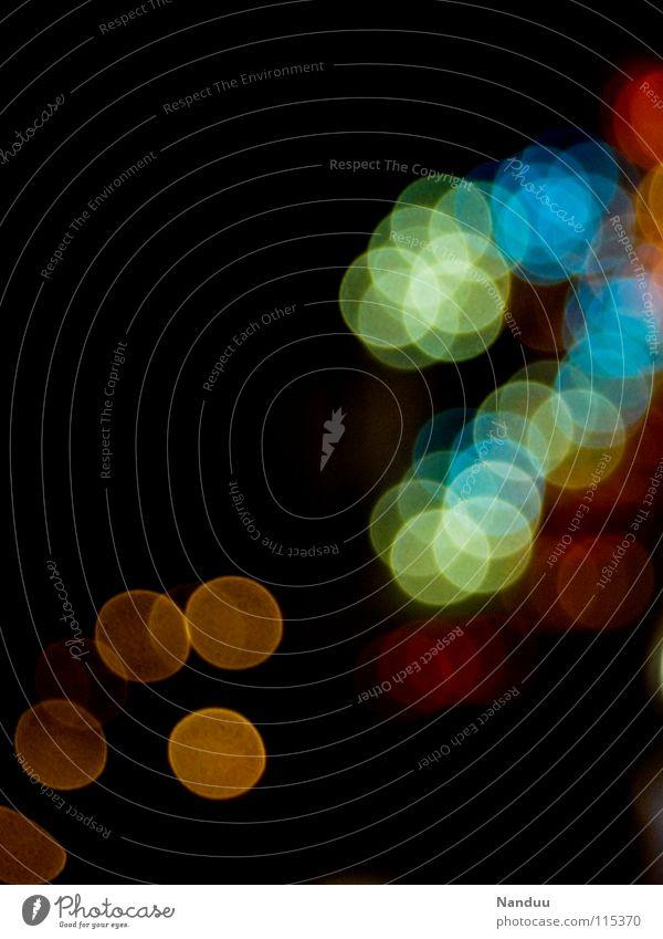 Unpünktlich dunkel Licht Unschärfe Hintergrundbild schwarz mehrfarbig rot Punkt Fleck orange blau
