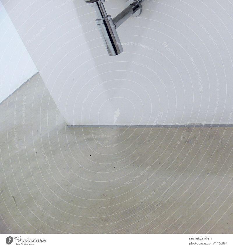 minimalismus im bad VI weiß schön Haus ruhig Erholung kalt Wand Architektur Stil hell Beleuchtung Raum Wohnung glänzend nass Beton