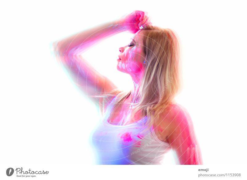 UV VI feminin Junge Frau Jugendliche Körper 1 Mensch 18-30 Jahre Erwachsene außergewöhnlich schön Körpermalerei UV-Strahlung Farbfoto mehrfarbig Studioaufnahme