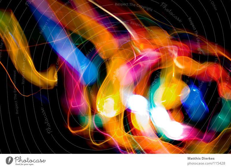 Strudel Licht Lichtspiel Lichterkette Stativ Langzeitbelichtung Strahlung Kurve Bilanz Statistik Verlauf Spuren tief Geschwindigkeit kreisen Konjunktur