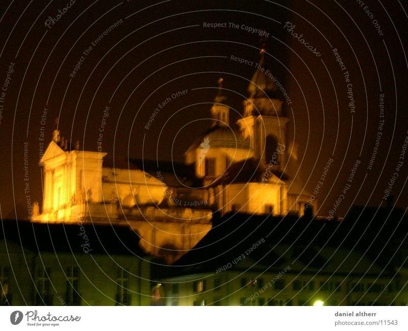 my hometown Stadt Winter Gebäude Religion & Glaube Architektur Skyline Gott Götter Kathedrale Nachtaufnahme Nacht Solothurn
