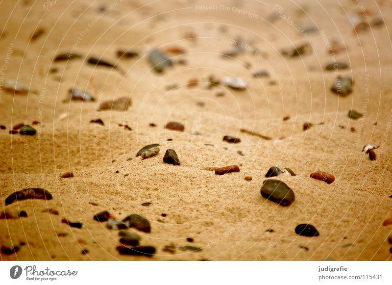 Sand und Steine Strand Meer See Küste fein Ferien & Urlaub & Reisen Oberfläche Farbe Punkt Strukturen & Formen Mars rau