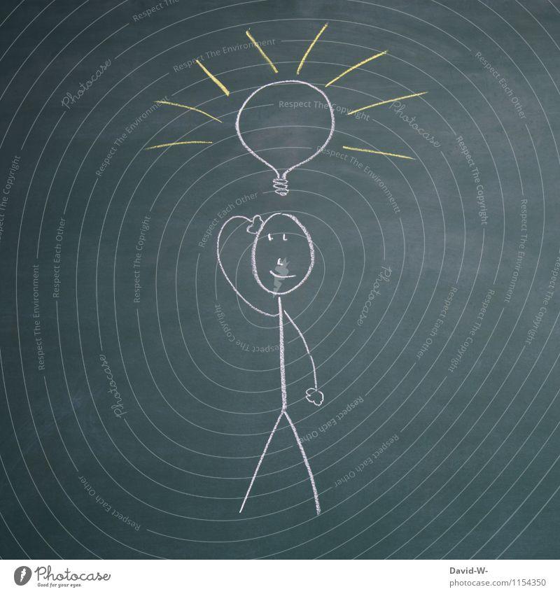 Idee Mensch Kind Jugendliche Junger Mann Leben Denken Schule Kopf maskulin Kindheit Erfolg Kreativität Lächeln lernen Idee planen