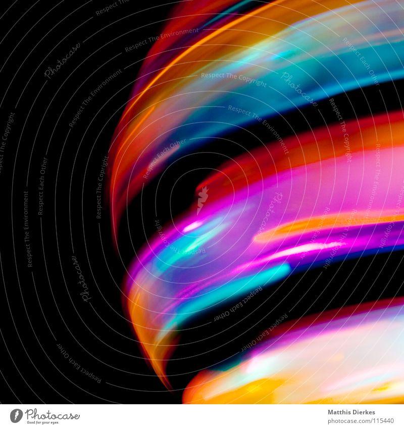 Planet Farbe Freude Traurigkeit Beleuchtung Hintergrundbild Party Lampe glänzend leuchten Erde hoch Geschwindigkeit Kreis Flugzeug Weltall Symbole & Metaphern