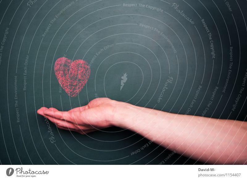 ein Herz für... Glück Gesundheit Gesundheitswesen Leben Valentinstag Muttertag Hochzeit Mensch Frau Erwachsene Mann Arme Liebe Leidenschaft Tierliebe Romantik