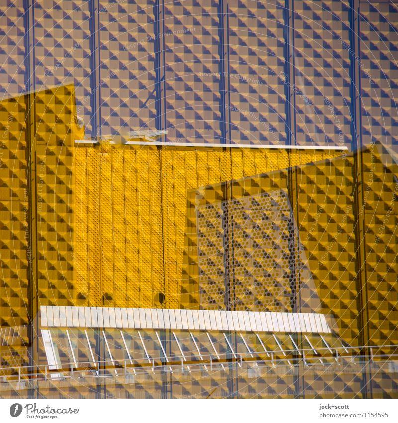 Gold im Quadrat Architektur Tiergarten Fassade Sehenswürdigkeit Berliner Philharmonie Linie außergewöhnlich Originalität retro seriös viele gold Stimmung