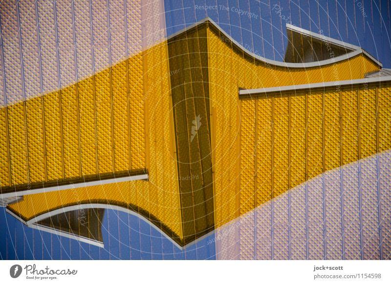 Die Goldenen Architektur außergewöhnlich Fassade Zufriedenheit Design gold modern verrückt Ecke Wolkenloser Himmel Irritation Sehenswürdigkeit Doppelbelichtung