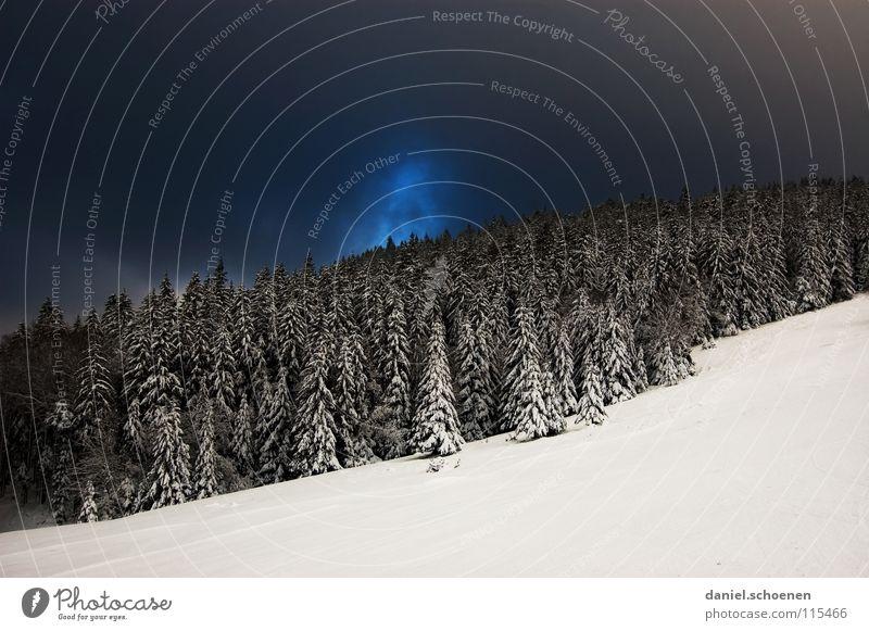 Weihnachtskarte 26 (die allerletzte !) Himmel Natur blau weiß Ferien & Urlaub & Reisen Winter Einsamkeit Wolken Wald dunkel Schnee grau Wetter Hintergrundbild