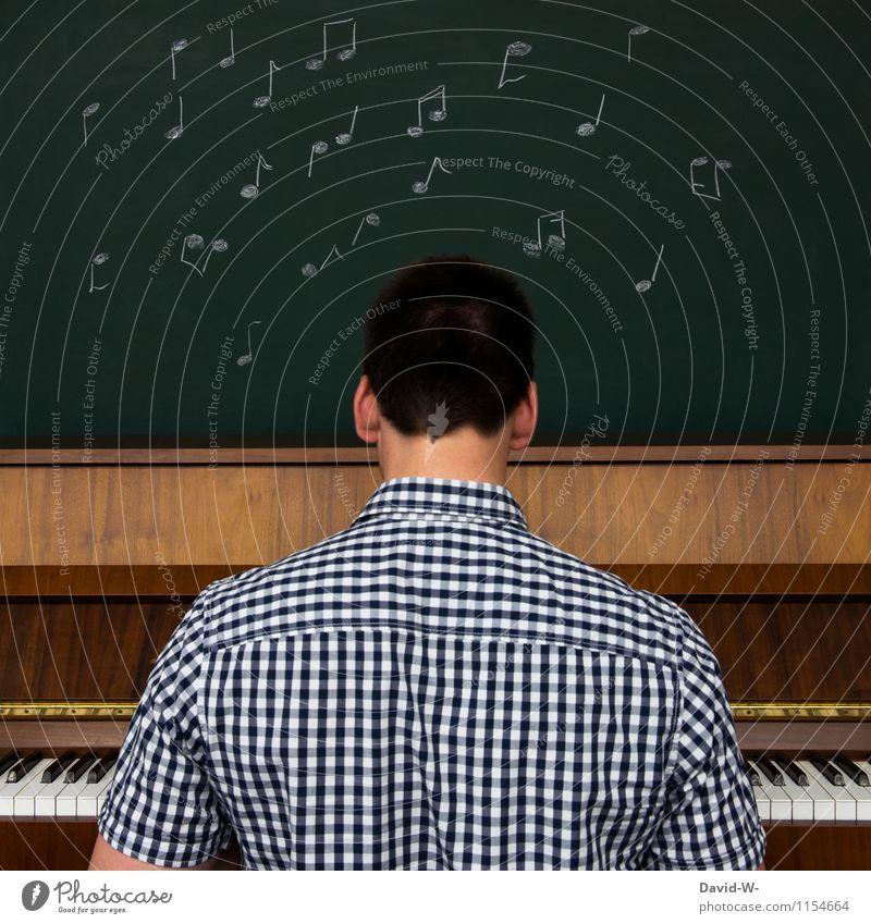 langlebig | Musik elegant Freude harmonisch Freizeit & Hobby Spielen Bildung Schule lernen Tafel Erfolg Mensch Mann Erwachsene Jugendliche Finger Künstler