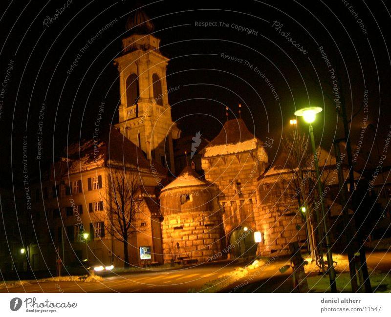my hometown 5 Stadt Eingang Gebäude Nacht historisch Architektur Stadttor Tor Barock Nachtaufnahme