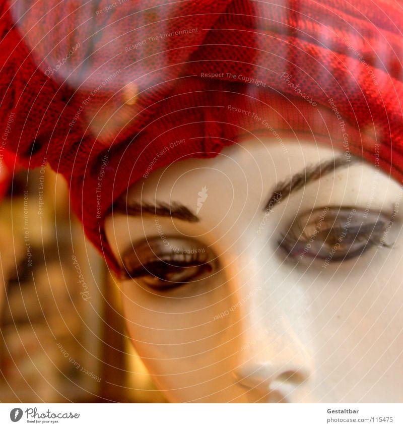 Kundenfang II leer Dekoration & Verzierung Spaziergang Hut Mütze Schminke Schaufenster Schaufensterpuppe Kosmetik