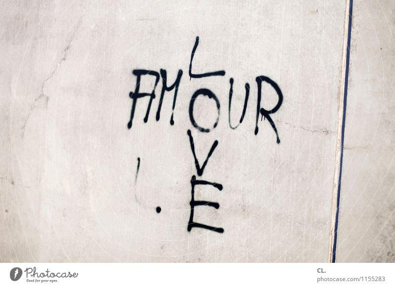 transatlantische beziehungen Wand Liebe Graffiti Mauer Zusammensein Schriftzeichen Lebensfreude Partnerschaft Verliebtheit Frühlingsgefühle Englisch Französisch