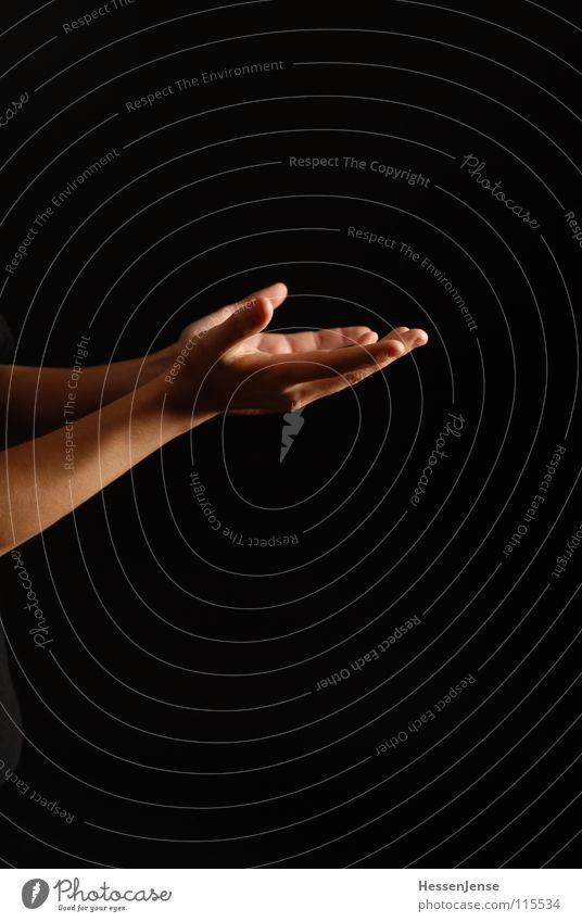 Hand 3 Finger reich Reichtum Wellness hilflos danken Götter schwarz Hautfarbe sozial Brennpunkt Vertrauen Sozialer Dienst Weihnachten & Advent Arme Wealth