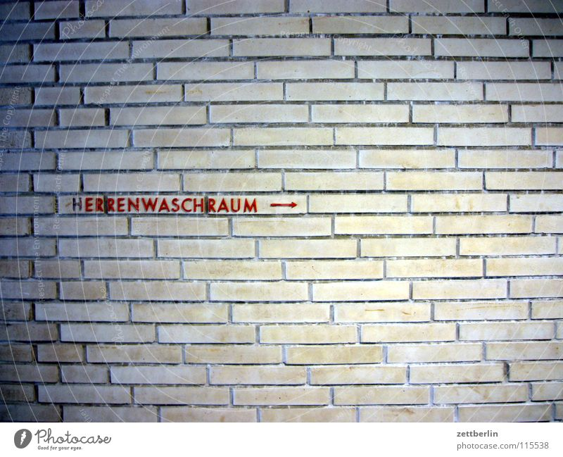 hERRENWASCHRAUM ---> Wand Mauer Bad Sauberkeit Waschen Fuge Herr herrschaftlich Waschhaus Seuche
