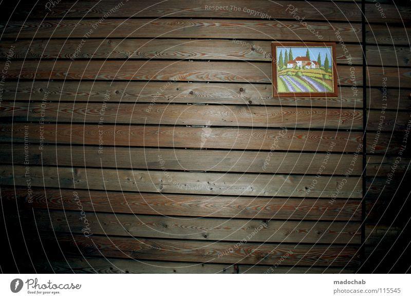 one THE LOCATION Holz Holzmehl Wand Holzwand Muster Hintergrundbild Bilderrahmen Image Heimat Wohnung Haus braun heimatlich Romantik Einsamkeit leer