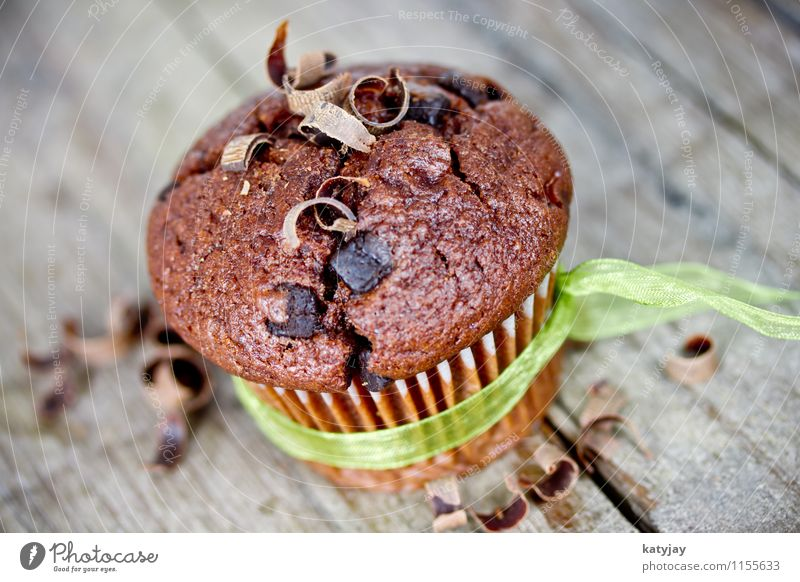 Schokomuffin dunkel Speise Essen Foodfotografie Tisch Kochen & Garen & Backen süß Kaffee lecker nah zart Kuchen Dessert Backwaren Schokolade Zucker