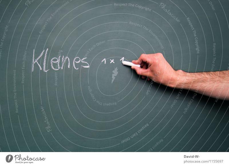 Kleines 1 × 1 Mensch Kind Hand ruhig Leben Schule Kindheit lernen Ziffern & Zahlen Bildung schreiben Schüler Stress Tafel Kindererziehung Lehrer