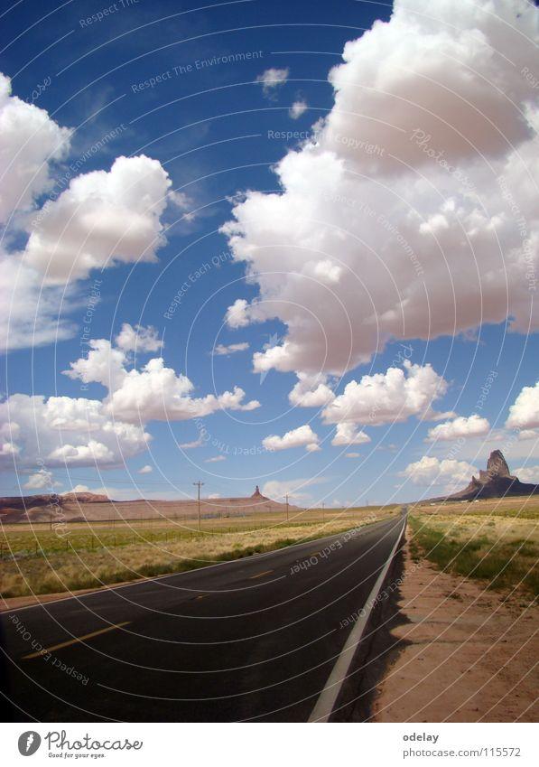 Highway 163 Himmel Wolken Straße Berge u. Gebirge Felsen USA Autobahn Arizona