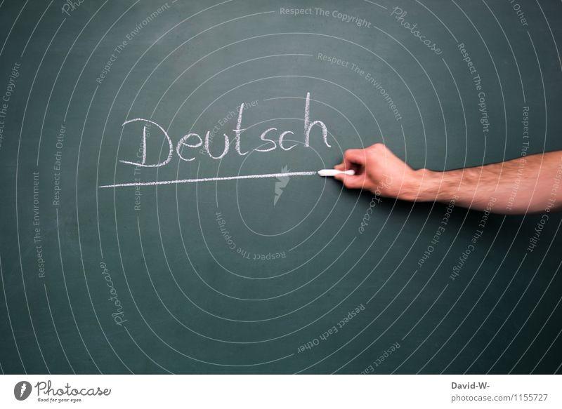 Deutsch unterstrichen Mensch Kind Jugendliche Hand Leben Schule Deutschland Kindheit lernen Kommunizieren Telekommunikation Bildung Erwachsenenbildung Schüler Tafel Kindergarten