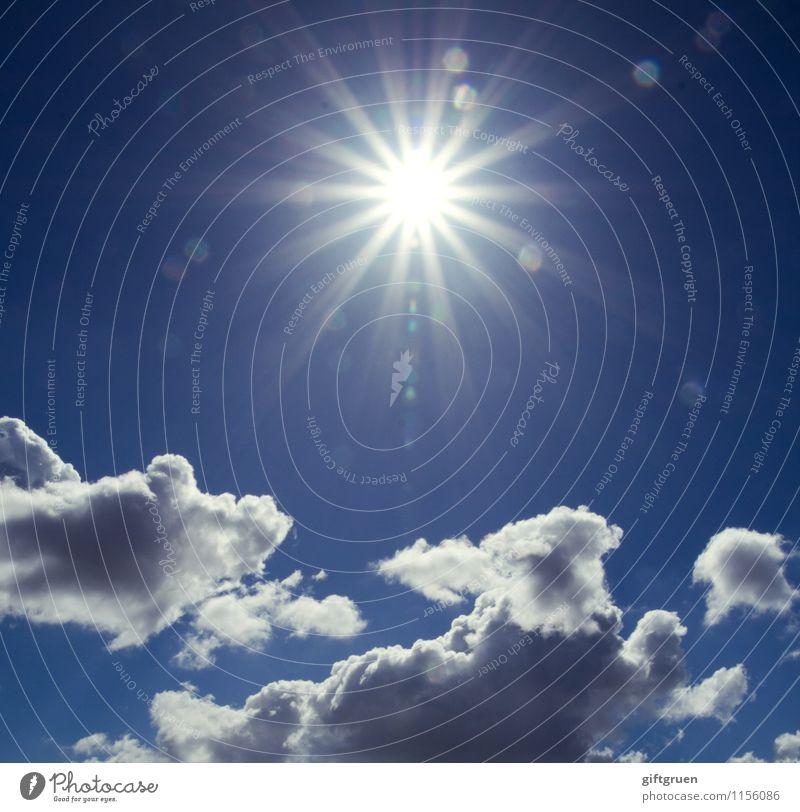 diamonds in the sky Himmel Natur blau Sonne Wolken Freiheit außergewöhnlich hell Wetter Stern (Symbol) Schönes Wetter Urelemente erleuchten Erkenntnis
