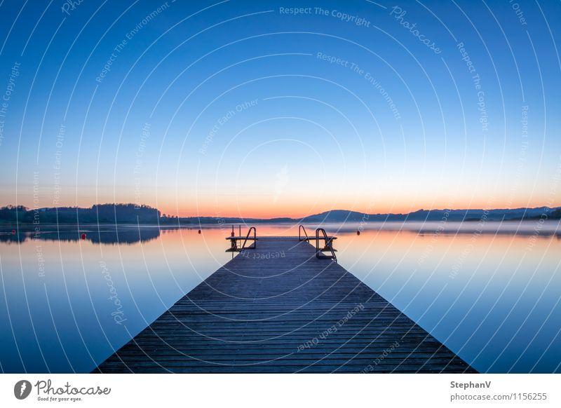 Der Steg harmonisch Erholung ruhig Meditation Schwimmen & Baden Angeln Ferien & Urlaub & Reisen Tourismus Ausflug Fahrradtour Sommer Sommerurlaub Strand Segeln