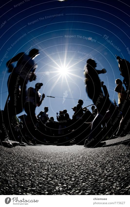 Running Sport Spielen laufen Silhouette Joggen Marathon Laufsport