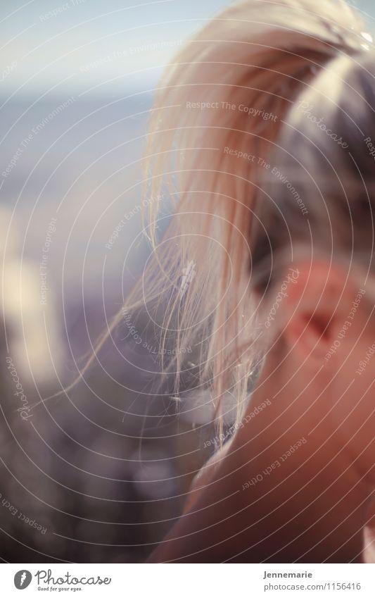 Licht Mensch Natur Ferien & Urlaub & Reisen Jugendliche Sommer Junge Frau Sonne Landschaft ruhig Ferne 18-30 Jahre Erwachsene Umwelt Leben feminin Haare & Frisuren