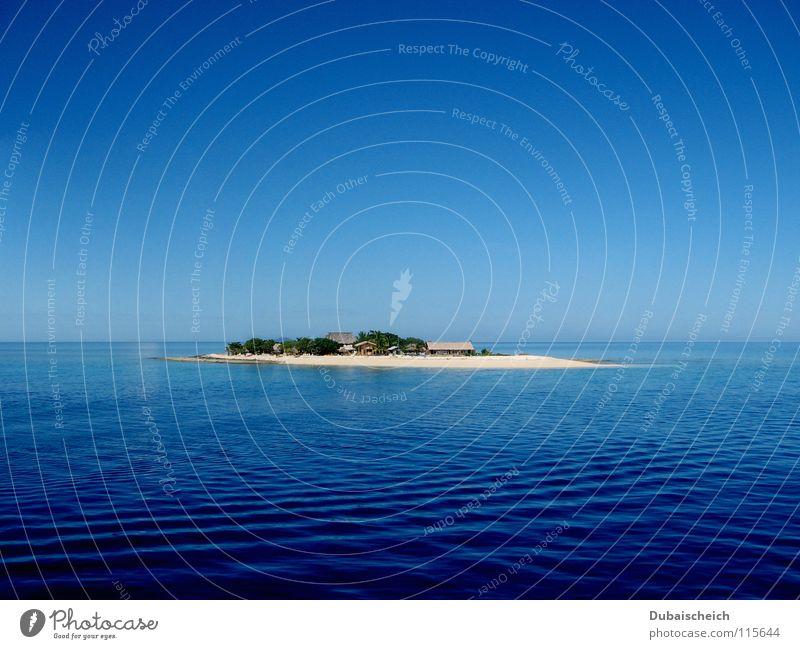 Einsamkeit Fidschiinseln Karibisches Meer Strand Ferien & Urlaub & Reisen Wasserfahrzeug Wellen Pazifik Küste Insel Einsame Insel