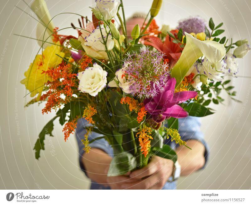 Muttertag Frau Jugendliche Mann Pflanze schön Junge Frau Hand Blume Junger Mann Freude Erwachsene Liebe Gesundheit Lifestyle Familie & Verwandtschaft