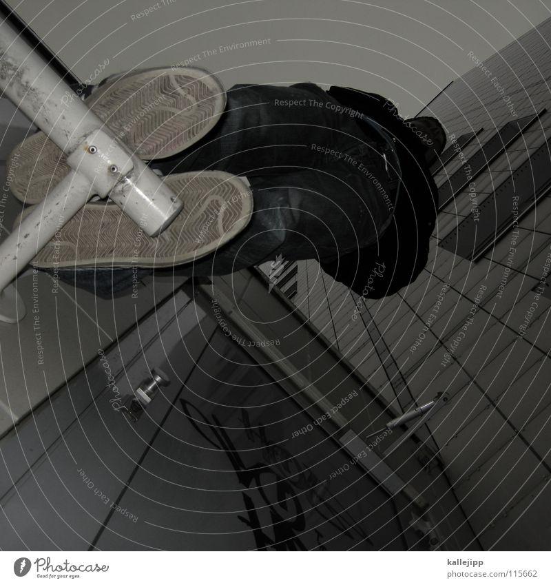stay rude, stay platte Plattenbau Haus Mieter Selbstmörder springen Freestyle Aktion Himmel Limit Surfer Skateboarding Luft Klettern Fassade Freeclimber