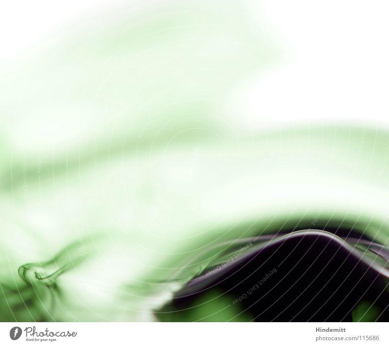 Fintentisch-Malheur [oder: Wie peinlich!] Wasser grün schwarz Farbe Wellen Angst Wassertropfen Klarheit Dynamik Strahlung Panik Nervosität Verlauf Tinte auslaufen Tusche